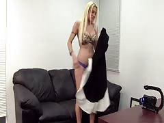This blonde want to prove that she is a pornstar in her soul