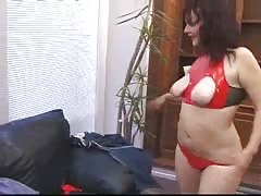 Elegant brunette is getting pounded hard in her pussy